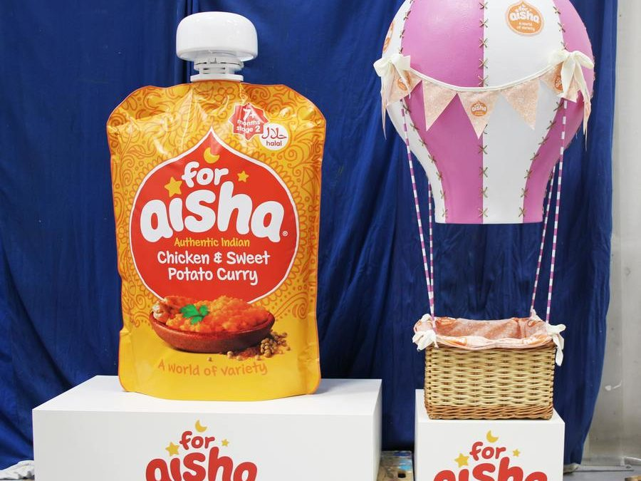 for Aisha – Large baby food pouch & balloon