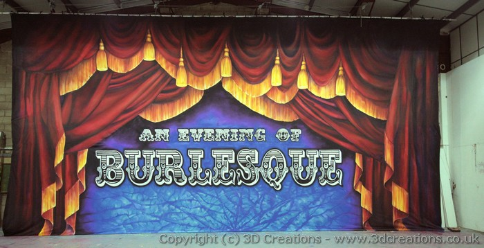 Burlesque Backcloth