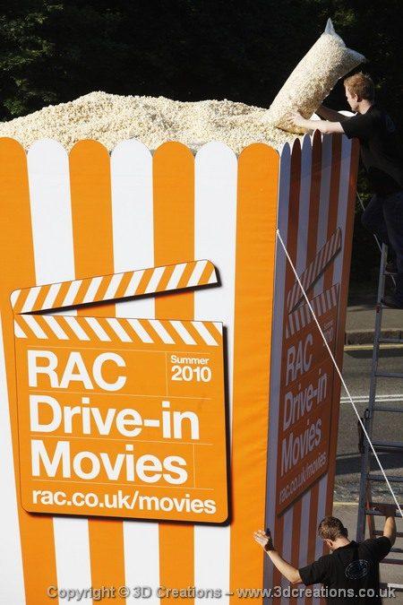 """World's Largest"" box of popcorn"