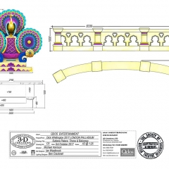 Dick Whittington Design - Sultans Palace Throne & Balconey