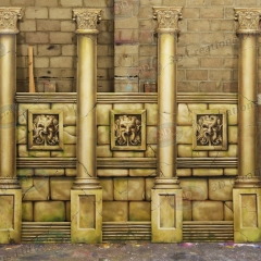 1 Aztec Wall & Pillars (1)