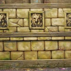 1 Aztec Wall & Pillars (2)
