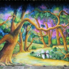 Woodland-cut-2013-Snow-White-Theatre-Sets-Props-Scenery-Hand-painted-Design-Backcloths-in-workshop-2-