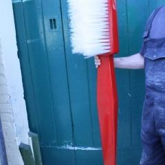 5ft-long-Tooth-brush-Large-Scale-Prop-hand-made