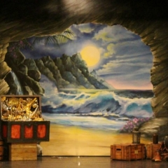 2-cave-entrance-on-stage-with-Set-Dressing