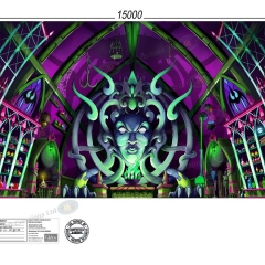 Witches lair Front Cloth 15m x 7m - Snow White - London Palladium 20th August 2018