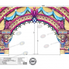 Grand Hall portal No1 - Snow White - London Palladium 23rd July 2018