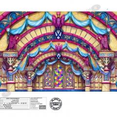 Palace Corridor Front Cloth - Snow White - London Palladium 13th August 2018