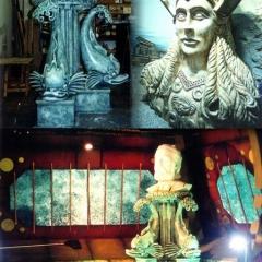 Jules-Verne-talking-Head-at-Brighton-Sea-Life-Centre-Anthna-Statue-at-Gt-Yarmouth-Sea-Life