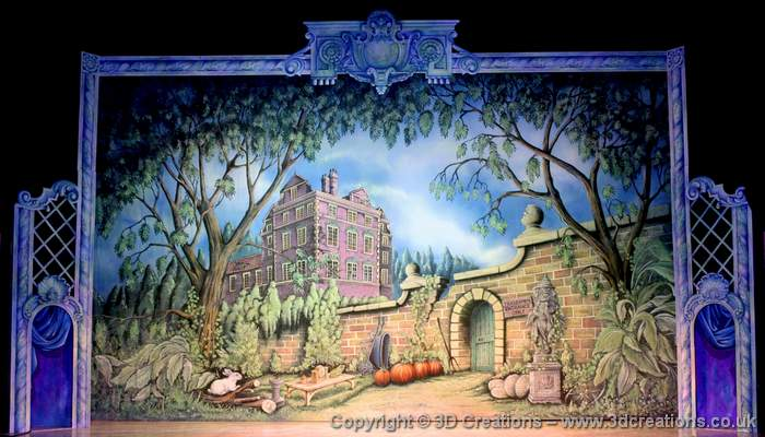 Cinderella Backcloths for Qdos Pantomimes Ltd
