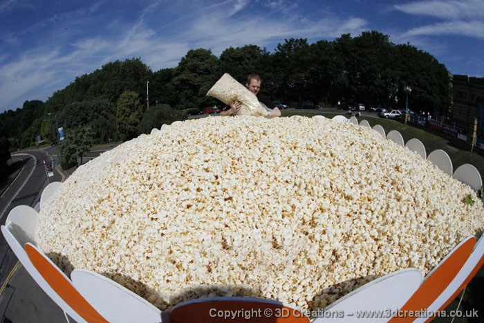 """World's Largest"" box of popcorn"